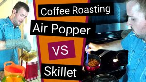 How to Roast Coffee Beans At Home | Stove Top Skillet vs Popcorn Air Popper (Cheap Methods)