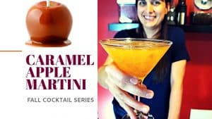 CARAMEL APPLE MARTINI – Easy Recipe [Best Fall Cocktails Series]
