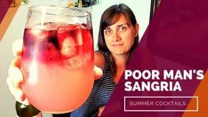 POOR MAN'S SANGRIA – Pink Vodka Lemonade with Red Wine Cocktail [SUMMER COCKTAIL SERIES]