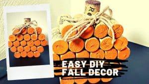 HALLOWEEN WINE CORK PUMPKIN – Easy Fall DIY Craft