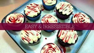 RED WINE CUPCAKE RECIPE – With Homemade Frosting and Red Wine Glaze